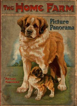 THE HOME FARM Saint Bernard dog with puppy