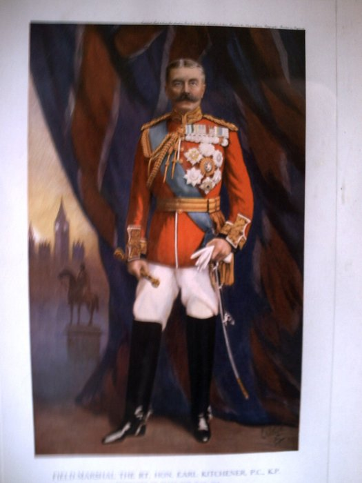 FIELD MARSHAL, THE RT. HON, EARL KITCHENER, P.C.  K.P. SECRETARY OF STATE FOR WAR 1914