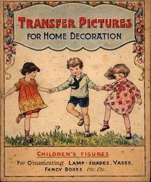 TRANSFER PICTURES FOR HOME DECORATION, CHILDREN'S FIGURES