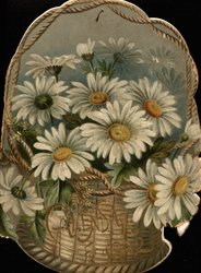 CALENDAR FOR 1892 basket of daisies