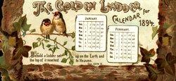THE GOLDEN LADDER CALENDAR FOR 1894