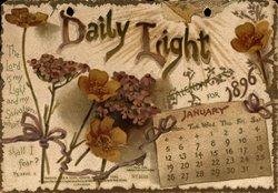 DAILY LIGHT CALENDAR FOR 1896