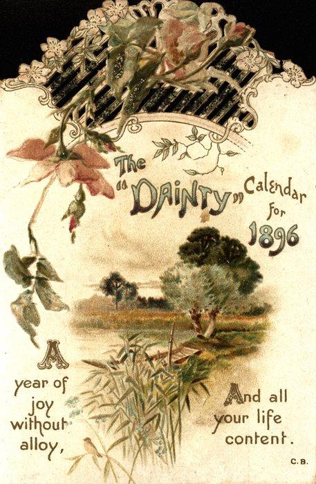 THE DAINTY CALENDAR FOR 1896