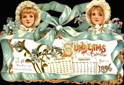 SUNBEAMS CALENDAR FOR 1896