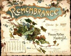 REMEMBRANCE CALENDAR FOR 1897