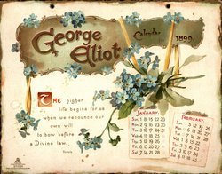 GEORGE ELLIOT CALENDAR FOR 1899
