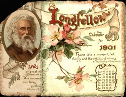 LONGFELLOW CALENDAR FOR 1901