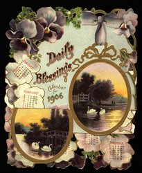 DAILY BLESSINGS CALENDAR FOR 1906