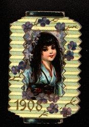 1908 girl in blue kimono
