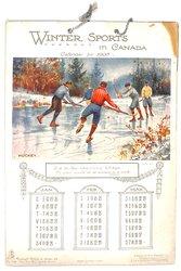 WINTER SPORTS IN CANADA CALENDAR FOR 1908