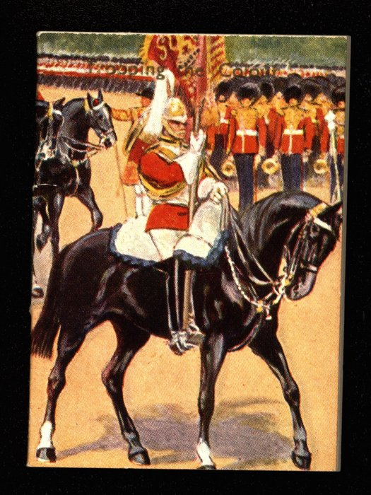 TROOPING THE COLOR military soldier on black horse