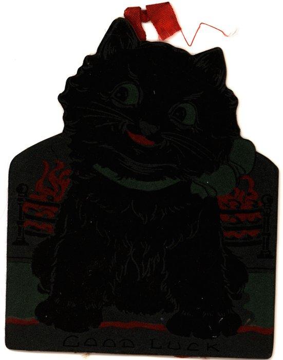 GOOD LUCK (black cat)