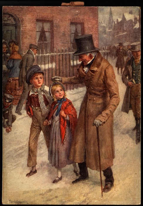 HOW SCROOGE KEPT CHRISTMAS DAY (title on reverse)