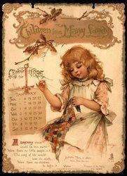 CHILDREN FROM MANY LANDS CALENDAR FOR 1895