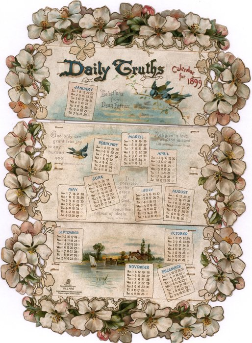 DAILY TRUTHS CALENDAR FOR 1899