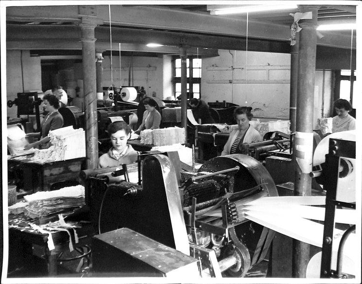view of printing machinery