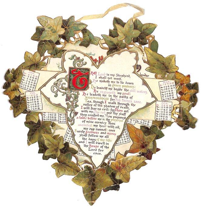 TWENTY-THIRD PSALM calendar for 1903