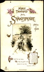 NOBLE THOUGHTS FROM SHAKESPEARE CALENDAR FOR 1903