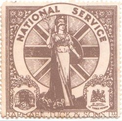 World War I, NATIONAL SERVICE poster stamp