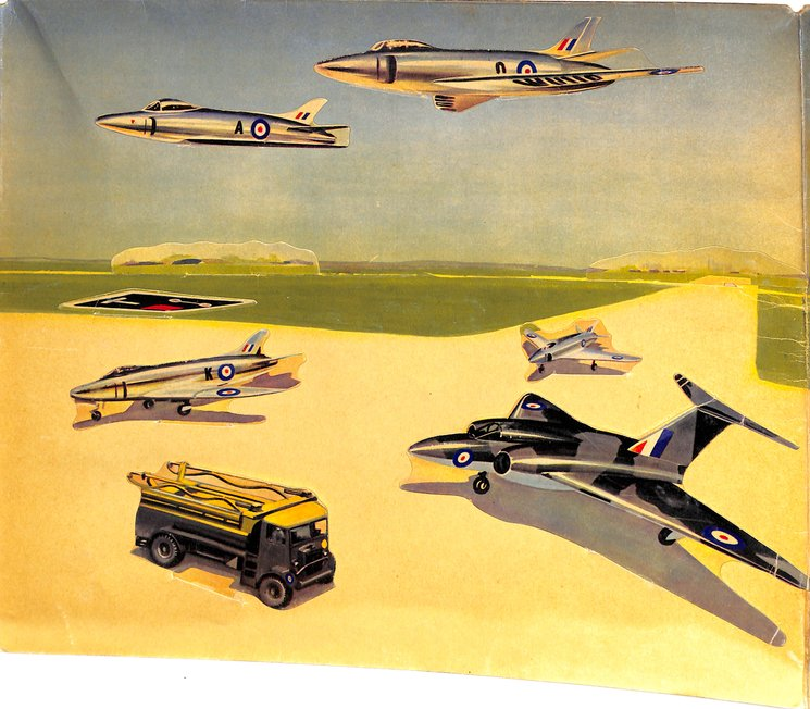 R.A.F. FIGHTER STATION SCENIC PANORAMA BOOK, fold out version