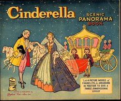 CINDERELLA SCENIC PANORAMA BOOK, stapled version with no envelope