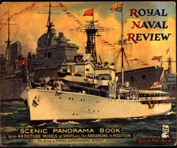 ROYAL NAVAL REVIEW SCENIC PANORAMA BOOK, foldout version