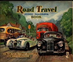 ROAD TRAVEL SCENIC PANORAMA BOOK, stapled version with no envelope