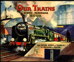 OUR TRAINS SCENIC PANORAMA BOOK, stapled version with no envelope