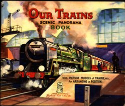 OUR TRAINS SCENIC PANORAMA BOOK, foldout version with envelope