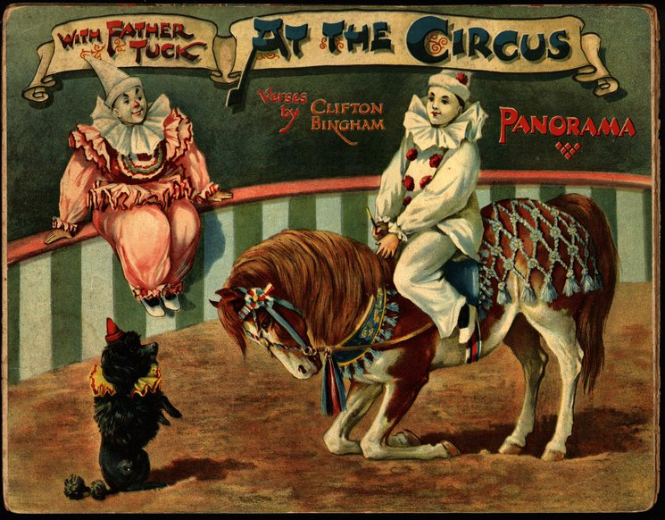 WITH FATHER TUCK AT THE CIRCUS PANORAMA, foldout version,