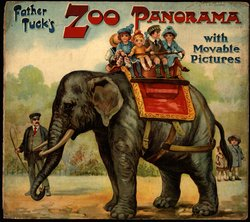 FATHER TUCK'S ZOO PANORAMA WITH MOVABLE PICTURES, foldout version