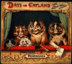 DAYS IN CATLAND WITH LOUIS WAIN FATHER TUCK'S PANORAMA