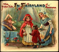 WITH FATHER TUCK IN FAIRYLAND PANORAMA, French sticker on back