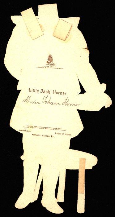 LITTLE JACK HORNER (title on reverse) (hat missing)