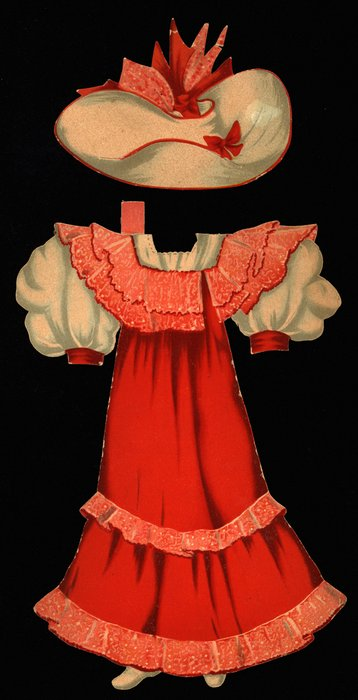 red and white dress and hat