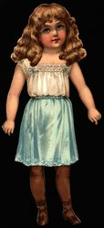 ROSY RUTH, (smaller 9 in. version with slits, no number)