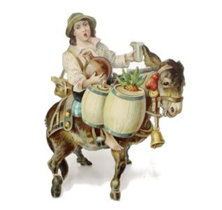 MORE FOUR-FOOTED FRIENDS, ITALIAN BOY ON DONKEY