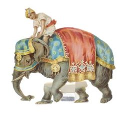 MORE FOUR-FOOTED FRIENDS, INDIAN ON ELEPHANT