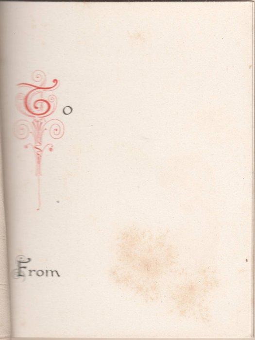 GOOD TIDINGS OF GREAT JOY illuminated letters, virgin Mary and baby Jesus