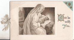 GOD BE WITH YOU (G & Y illuminated) nativity scene