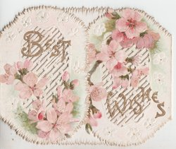 BEST WISHES in gilt, light pink roses