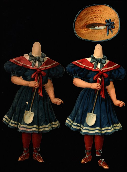 sailor style dress and straw hat
