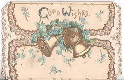 GOOD WISHES bells and forget-me-nots