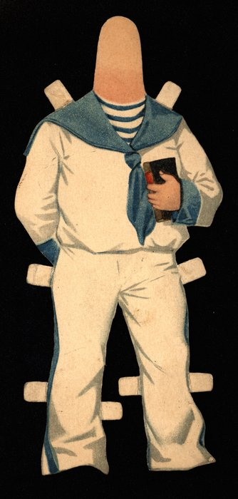 white sailor suit and hat