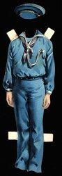 blue sailor suit and hat
