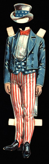 Uncle Sam style uniform and hat
