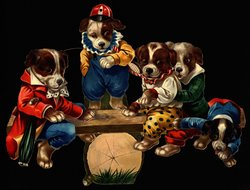 PUPPIES' PLAYTIME, JOLLY DOGS