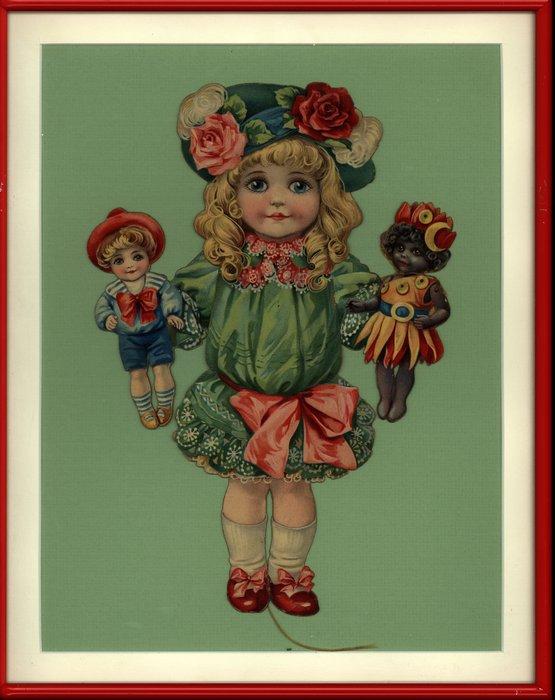 doll in green dress