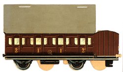1ST, 2ND class brown car