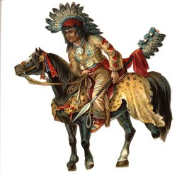 INDIAN CHIEF ON HORSEBACK